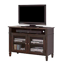 "Navarro Distressed Two Tone TV Console with Metal Mesh Doors - 40""W, 8803279"
