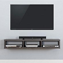 "60"" Shallow Wall Mount TV Component Shelf, 8804334"
