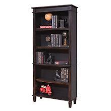 """Navarro Distressed Two Tone Five Shelf Bookcase - 72""""H, 8804422"""