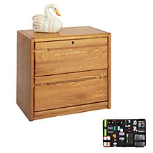 Two Drawer Wood Lateral File with Grid-It Desk Organizer, 8804569
