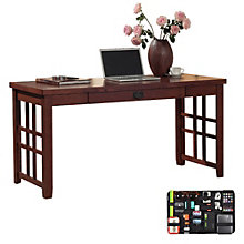 Mission Pasadena Laptop Desk with Grid-It Desk Organizer, 8804574