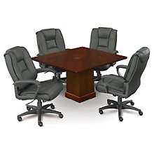 "Mount View 48""W Square Conference Table and Chair Set, 8804668"