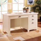 Tribeca Loft White Single Pedestal Desk, MRN-IMTLW540
