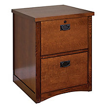 Mission Pasadena Two Drawer Vertical File, MRT-MP201