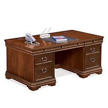 Traditional Double Pedestal Executive Desk, MRN-PT720