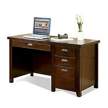 Tribeca Loft Cherry Single Pedestal Compact Desk, MRN-TLC540