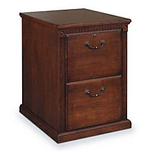 Burnished Oak Two Drawer Vertical File, MRT-HO201B
