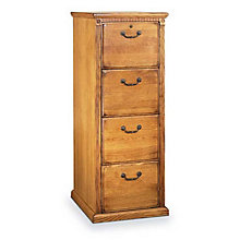 Wheat Oak Four Drawer Vertical File, MRT-HO204W