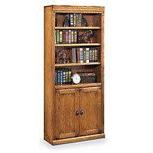 "Wheat Oak Doored Bookcase - 72""H, MRT-HO3072DW"