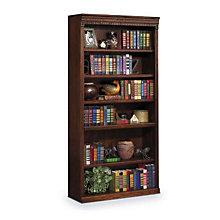 """Burnished Oak Six Shelf Bookcase - 72""""H, MRT-HO3672B"""