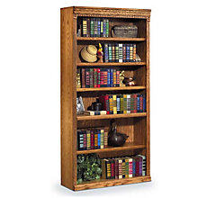 "Wheat Oak Six Shelf Bookcase - 72""H, MRT-HO3672W"