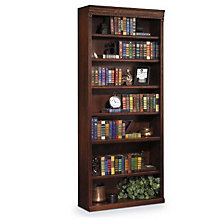 "Burnished Oak Seven Shelf Bookcase - 84""H, MRT-HO3684B"