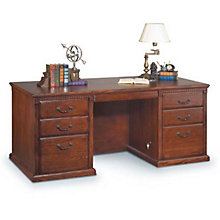 Burnished Oak Seven Drawer Desk, MRT-HO680B