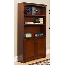 Mission Oak Bookcase with Doors, MRT-MO3670DM