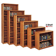 Medium Oak Three Shelf Bookcase, MRT-OB3636