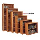 Medium Oak Five Shelf Bookcase, MRT-OB3660