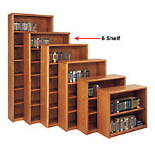 Medium Oak Six Shelf Bookcase, MRT-OB3670