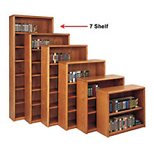 Medium Oak Seven Shelf Bookcase, MRT-OB3684