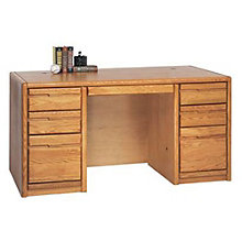 "Medium Oak Executive Desk - 60""W, MRT-OO670"