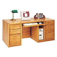 Medium Oak Computer Desk, MRT-OO685