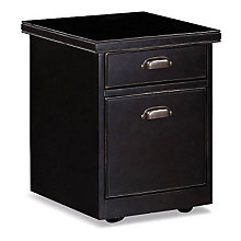 "Tribeca Loft Black Two Drawer Rolling File - 17"" W, MRT-TL202"