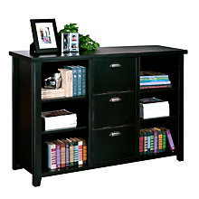 "Tribeca Loft Black Three Drawer File and Bookcase - 60"" W, MRT-TL504"