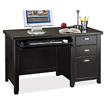 Tribeca Loft Black Single Pedestal Compact Desk, MRT-TL540