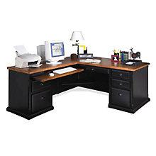Southampton Onyx L-Desk with Left Return, MRT-LD1076