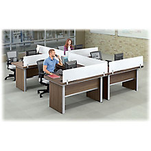 Metropolitan Four L-Desk Workstation Set, 8804994
