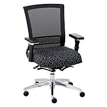 Ergonomic Chair with Patterned Fabric Seat and Mesh Back, 8804277