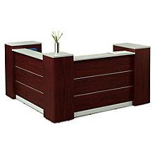 "Reception Desk with Lockable Storage - 87""W, 8803738"