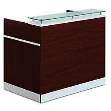 "Glass Top Reception Desk - 48""W x 30""D, 8803861"