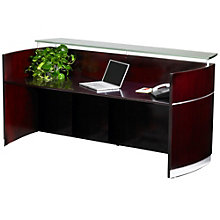 "Napoli Glass Counter Reception Station - 87.25""W, 8803234"