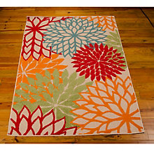 Floral Indoor/Outdoor Area Rug 5.25'W x 7.42'D, 8803837