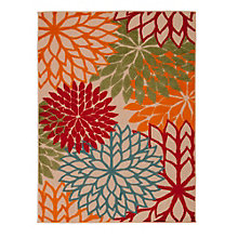 Floral Indoor/Outdoor Area Rug 9.5'W x 13'D, 8803838