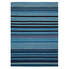 kathy ireland by Nourison Blue Tone Stripe Area Rug 5.25'W x 7.42'D, 8803830
