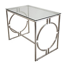 "Dynasty Glass Top Desk - 39.5""W, 8804935"