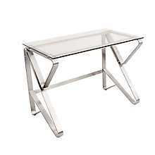"Foundry Glass Top Desk - 40.25""W, 8804934"