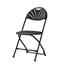 Valuemax Fan Back Plastic Folding Chair , 8802434