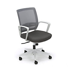 Perk Task Chair With Mesh Back and White Frame, 8807749