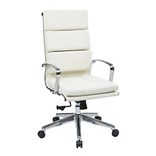 Modern Tufted High Back Office Chair in Bonded Leather, OFF-11147