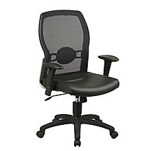 Leather and Mesh Ergonomic Computer Chair, OFF-599402