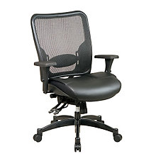 Mid Back Matrex Mesh and Leather Ergonomic Computer Chair, 8802814