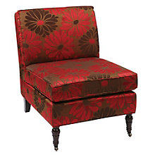 Madrid Armless Club Chair with Casters in Fabric, 8801773