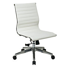 Hospitality Armless Task Chair in Faux Leather, 8801779