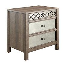 Helena Mirror Accented Three Drawer Storage Cabinet, 8801787