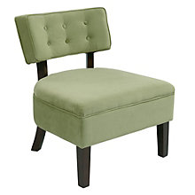 Curves Button Tufted Reading Chair in Velvet, 8801796