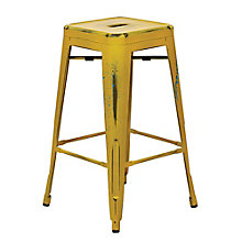 "Bristow Distressed Metal Barstool - 30""H, 8803133"