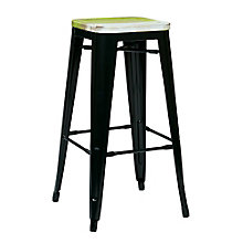 "Bristow Distressed Metal Barstool - 30""H, 8803136"