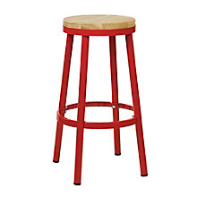 Bristow Distressed Metal Barstool with Wood Seat, 8803137